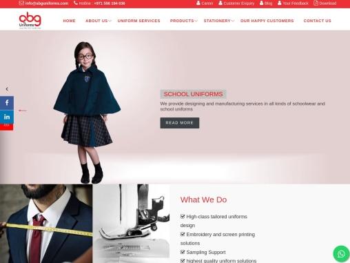 Uniform suppliers in UAE | Uniform Company | ABG Uniforms