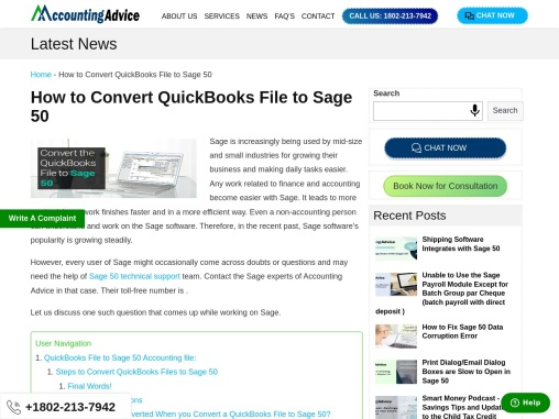 How To Convert Quickbooks File Sage 50.