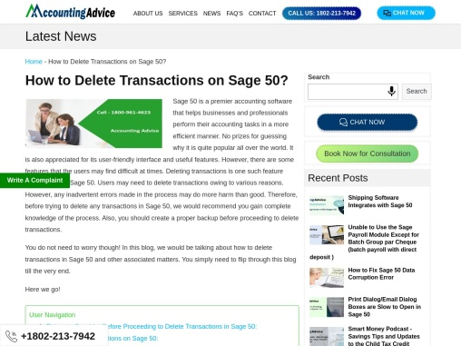 How to delete transactions on sage?