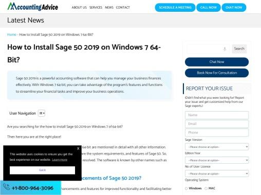 How to install sage 50 2019 on windows 7 64-bit.