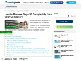 How to remove sage 50 completely