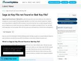 Sage 50 key file not found or bad key file.