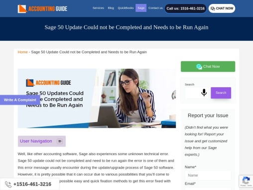 Sage 50 updates could not be compaleted and needs to be run again