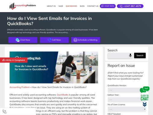 How do i view sent emails for invoices in quickbooks