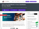 How to open quickbooks with linux