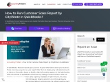 How to run customer sales report by city state in qb?