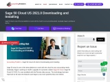 Sage 50 cloud us 2021.0 downloading and installing