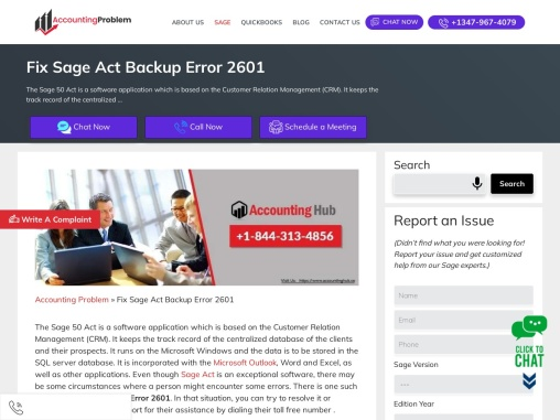 How to fix sage act error 2601