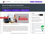 How to fix sage server busy error.