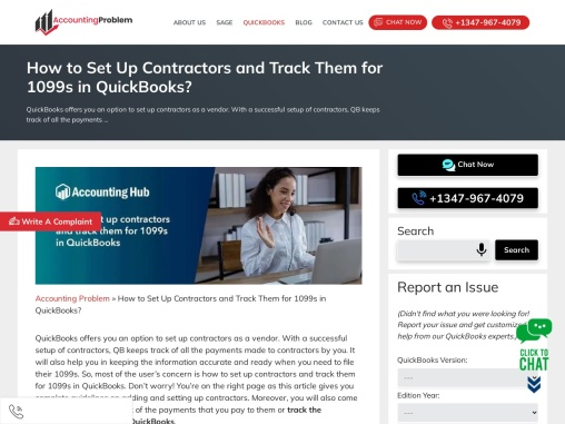 How to set up contractors and track them for 1099s in quickbooks?