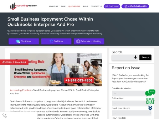 Small business icpayment chase within quickbooks enterprise and quickbookspro.