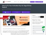 Your activation key for sage 50 has expired.