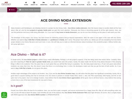 Ace Divino Noida Extension | ace divino
