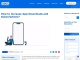 How to Increase the Number of App Downloads and Subscriptions?