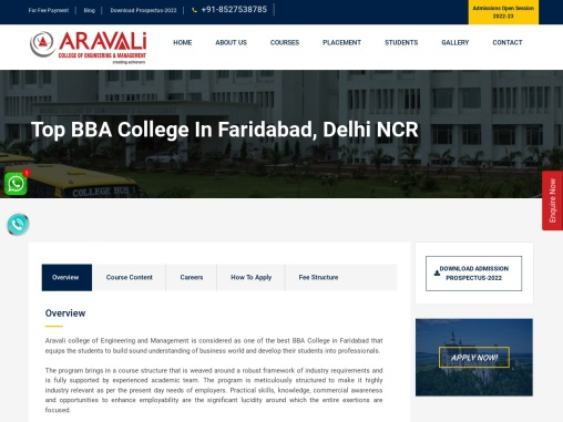 Top BBA College In Faridabad, Top BBA College in Delhi NCR