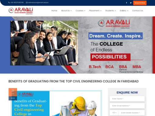 BENEFITS OF GRADUATING FROM THE TOP CIVIL ENGINEERING COLLEGE IN FARIDABAD