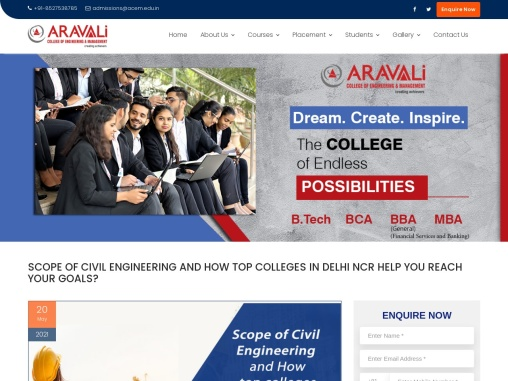 SCOPE OF CIVIL ENGINEERING AND HOW TOP COLLEGES IN DELHI NCR HELP YOU REACH YOUR GOALS