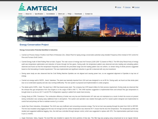 AMTECH Energy Conservation Solution,Manufacturer & Supplier in India