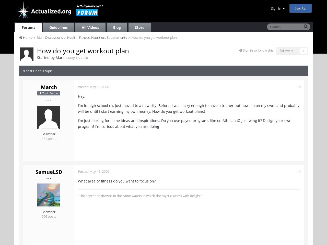 How do you get workout plan | Health, Fitness, Nutrition