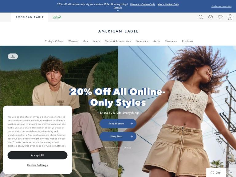American Eagle Outfitters Eu screenshot