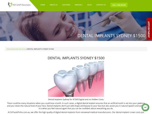Dental Implants in Sydney by Experienced Dentist- No Gap Dentists