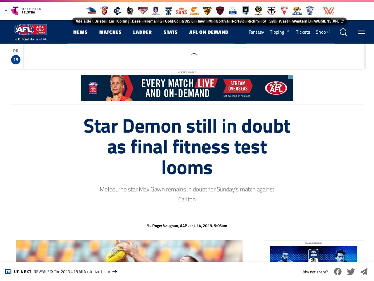 Star Demon still in doubt as final fitness test looms