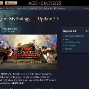 Age of Mythology — Update 2.8 - Age of Empires
