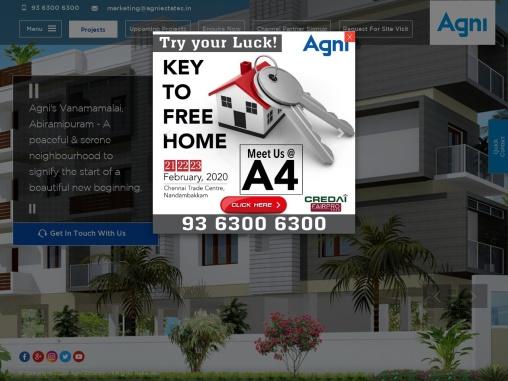Agni Estates Flats, Apartments, Villas For Sale in Chennai | Best Builders in Chennai