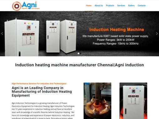 Induction heating machine manufacturer Chennai Agni induction