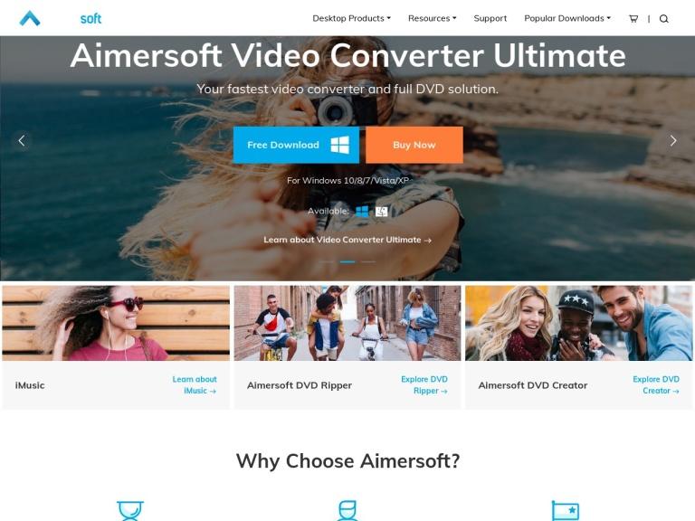 Aimersoft Coupon Codes screenshot