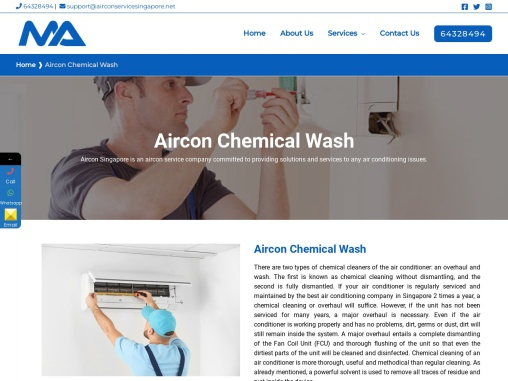 Best Aircon Chemical Wash Service at Affordable Price