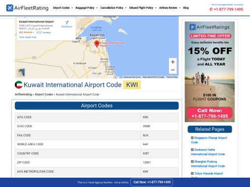 Find Kuwait International Airport Code and Other.