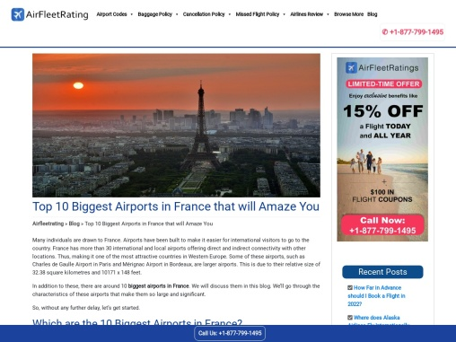 Top 10 Biggest Airports in France that will Amaze You.