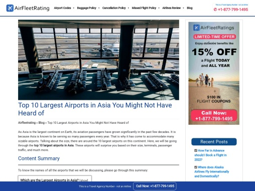 Top 10 Largest Airports in Asia You Might Not Have Heard of.