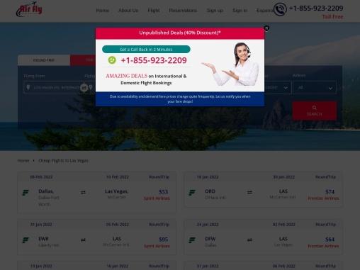 $23 – Cheap Flights to Las Vegas NV in 2021