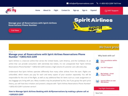 How do I Manage my spirit Airlines manage booking?