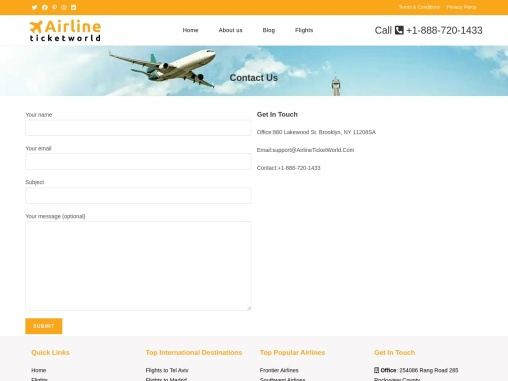 Airline Ticket World: Instant flight ticket reservations at borderline prices!
