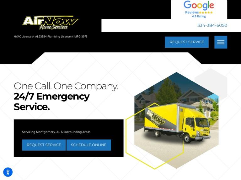 airnowhvac.com screenshot
