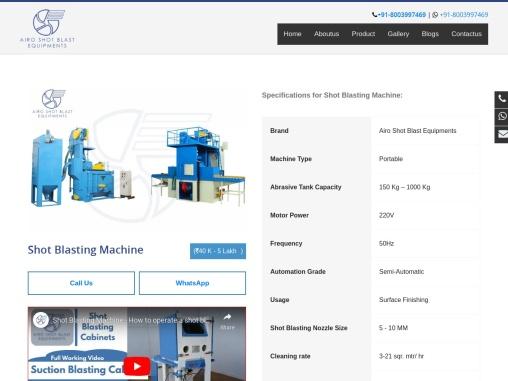 shot blasting machine | Shot blasting machine manufacturers in India | Shot blasting machine price