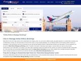 delta airlines manage reservation