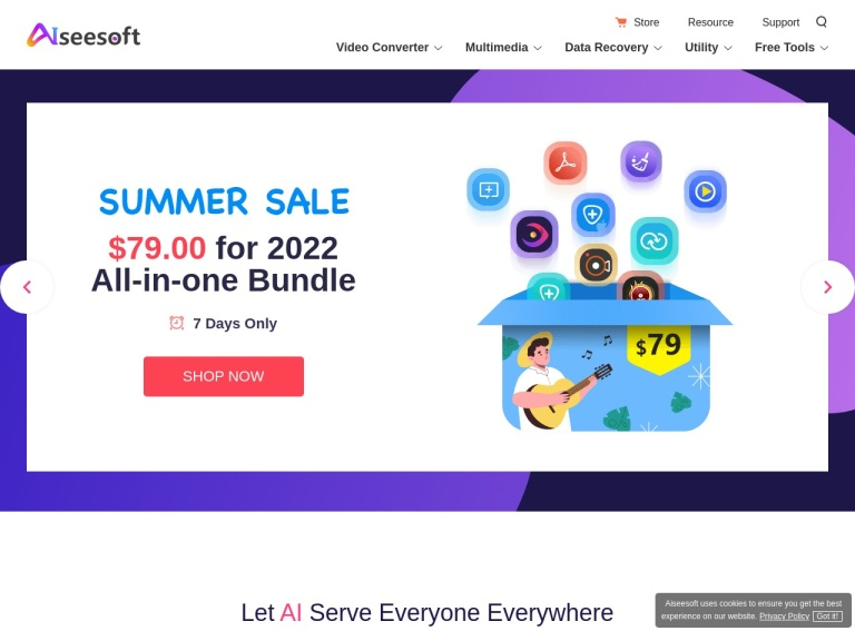 Aiseesoft Coupon Codes screenshot