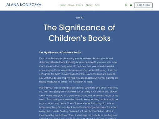 The Significance of Children's Books Jan 20