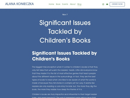 Significant Issues Tackled by Children's Books