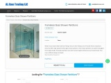 Frameless Glass Shower Partitions in Oman