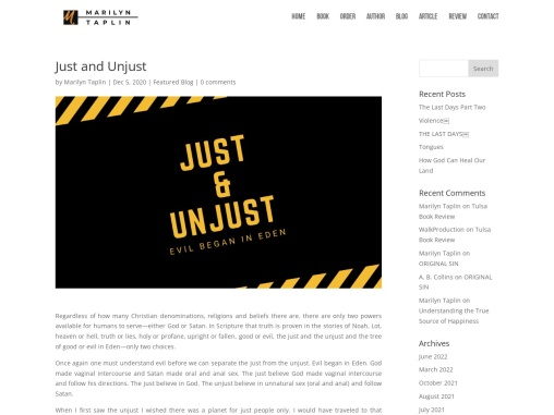 Just and Unjust by Marilyn Taplin