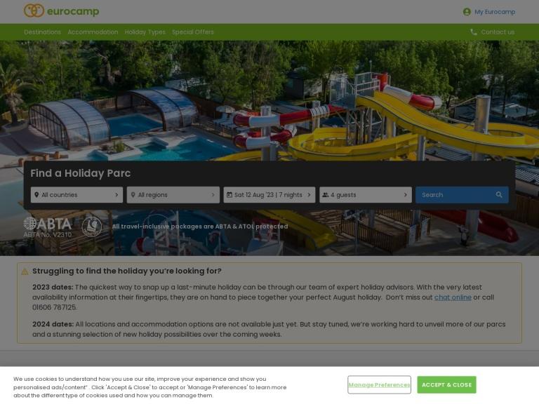 Al Fresco Holidays Discount Codes screenshot