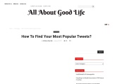 HOW TO FIND YOUR MOST POPULAR TWEETS?