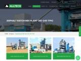 asphalt batch mix plant manufacturer and Exporters