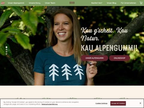 Alpengummi - 1. natürlicher Kaugummi der Alpen