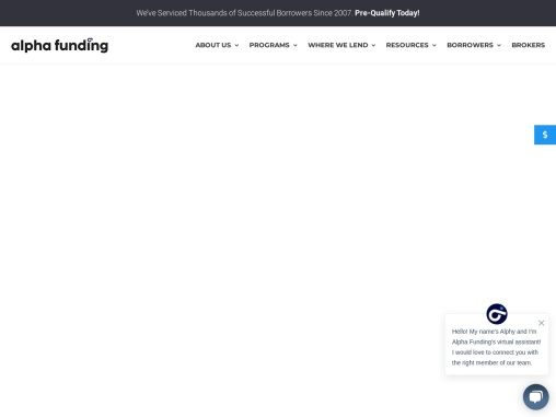 Alpha Funding Partners: direct hard money lender